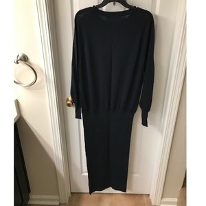 Zara navy knit dress with bandages bottoms size m